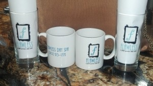 Flawless Day Spa Mugs and Glasses